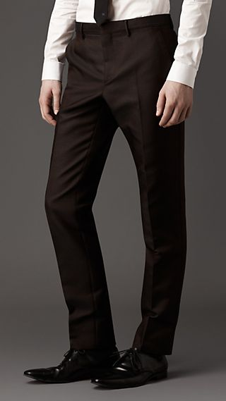 Slim Fit Technical Silk Trousers