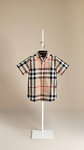 Check Cotton Twill Shirt