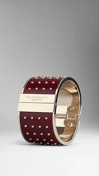 Stud Detail Leather Cuff