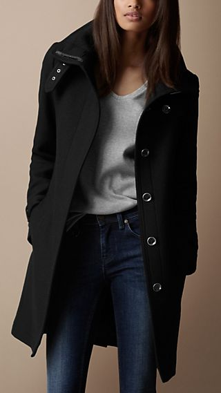 Belted Collar Wool Coat