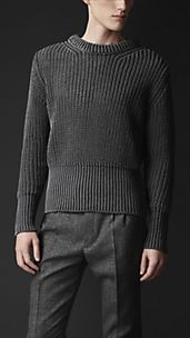 Ribbed Cotton Sweater