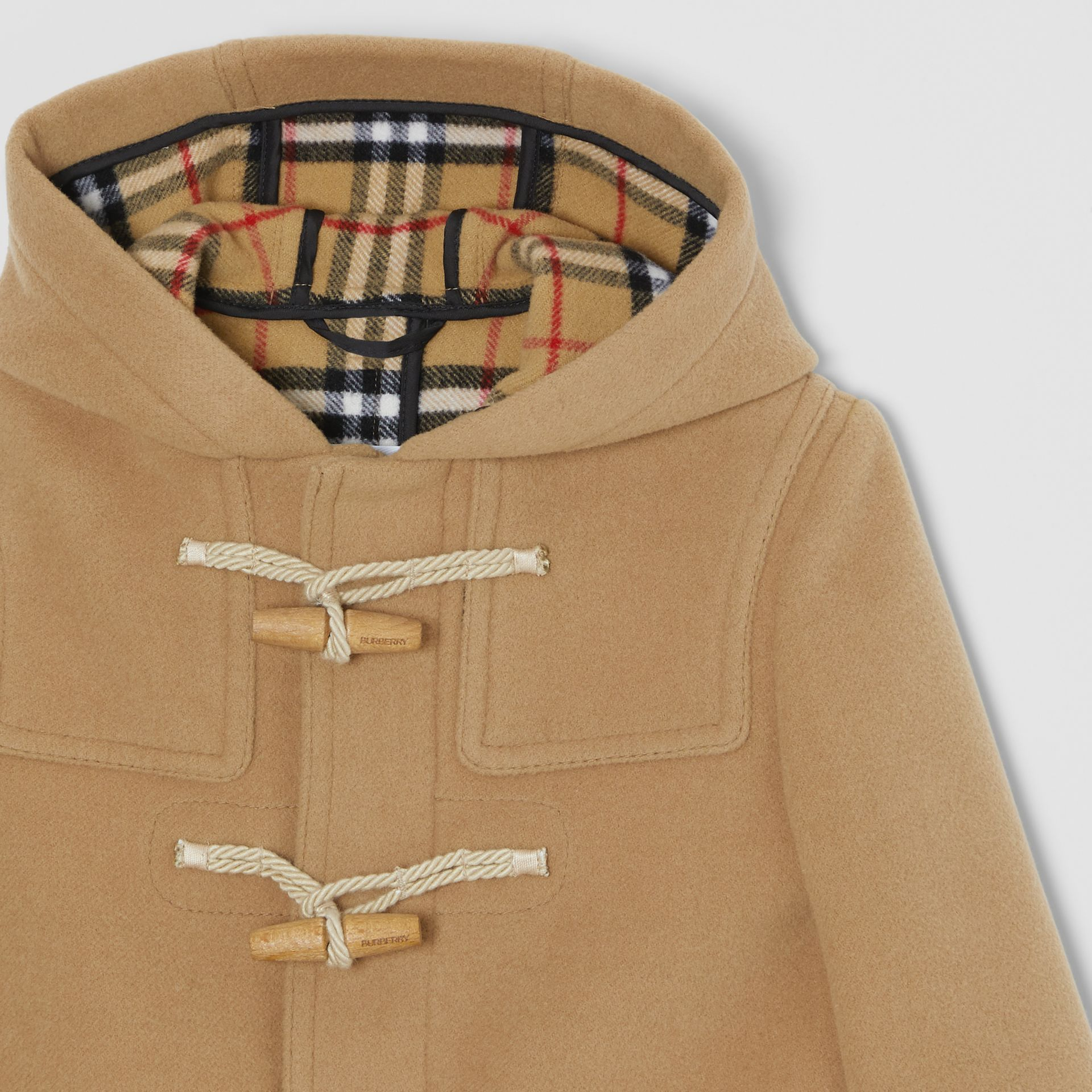 Double-faced Wool Duffle Coat in Antique Yellow | Burberry United Kingdom - gallery image 4