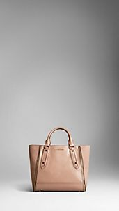 Medium London Leather Zip Detail Tote Bag