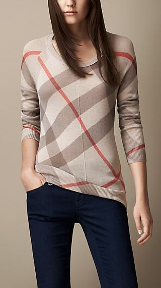 Reversible Check Sweater