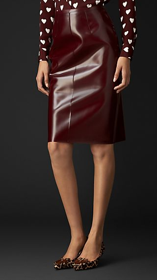 Translucent Vinyl Pencil Skirt