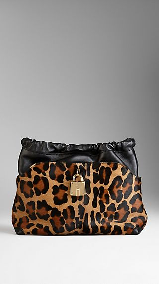 The Little Crush in Animal Print Calfskin