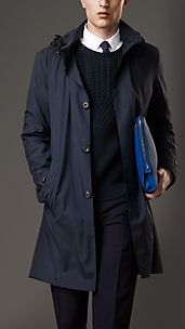 Technical Wool-Silk Blend Coat
