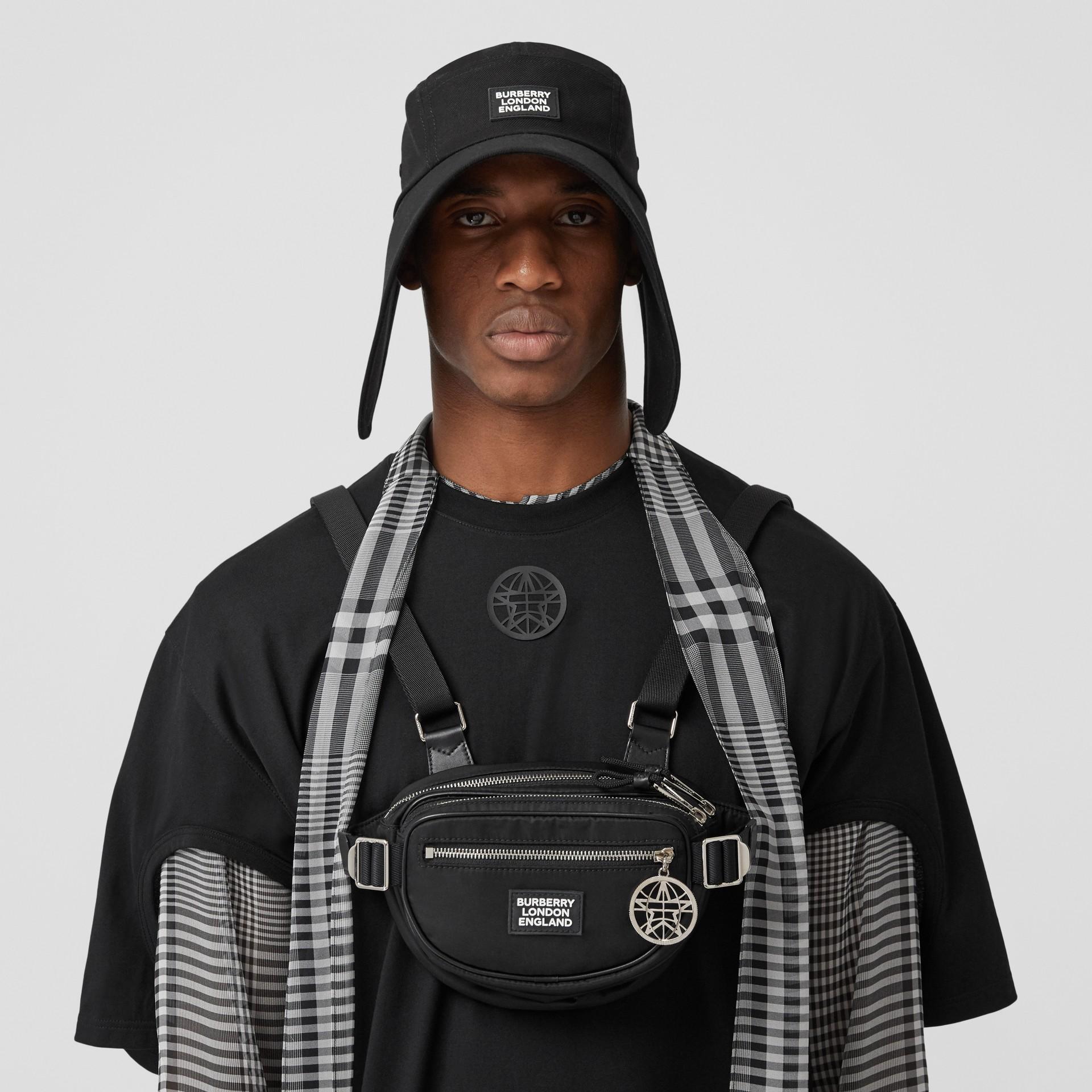 Logo Appliqué ECONYL® Cannon Belt Pack in Black | Burberry - gallery image 3