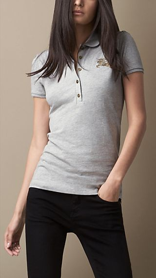 Gathered Sleeve Polo Shirt
