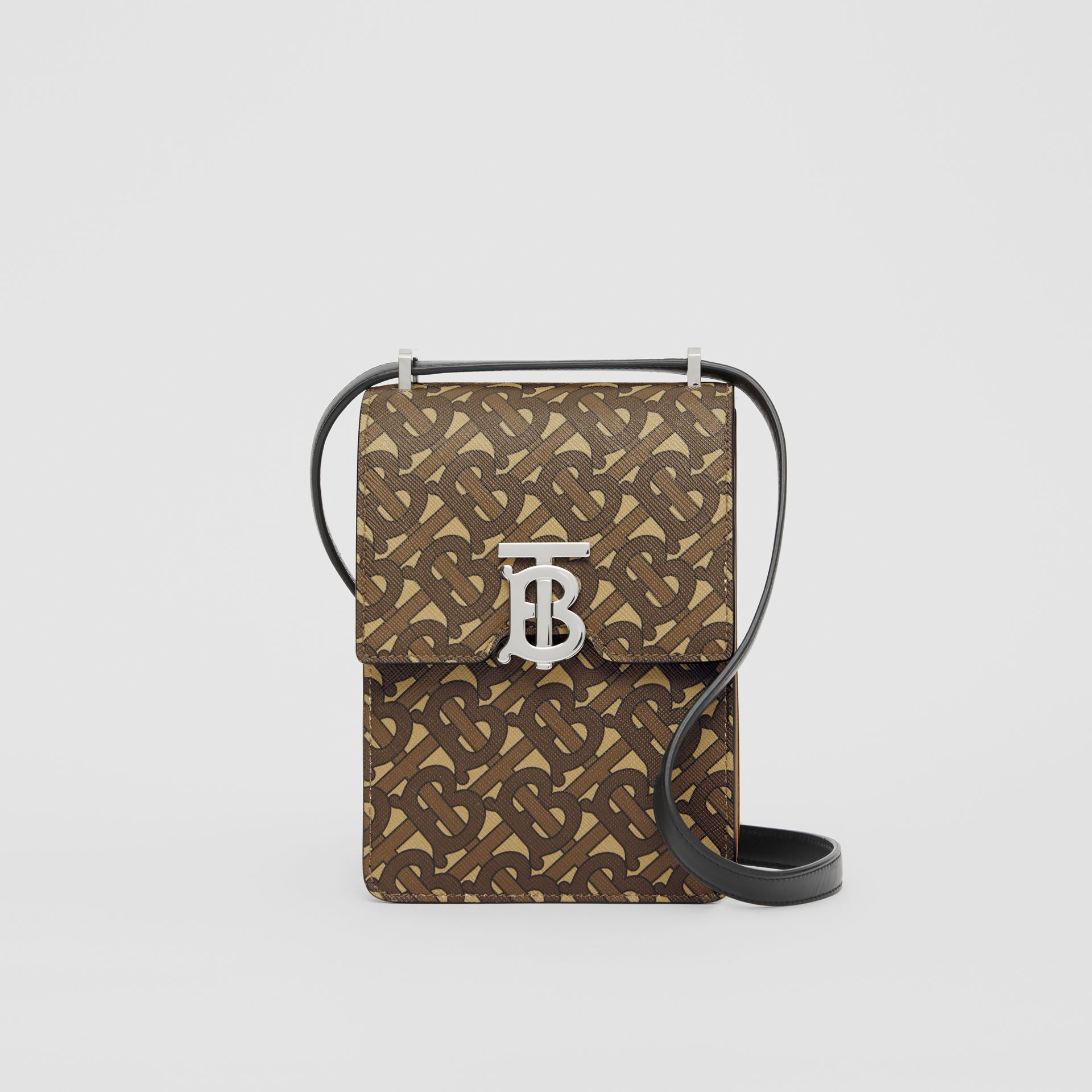 Monogram Print E-canvas Robin Bag in Bridle Brown | Burberry - gallery image 0