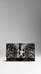 Animal Print Calfskin Clutch Bag