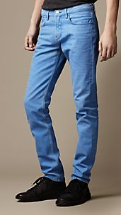 Shoreditch Coated Colour Skinny Fit Jeans