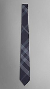 Check Wool Silk Tie