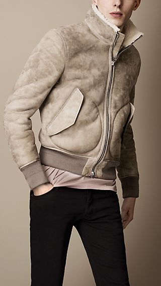 Pocket Detail Shearling Blouson