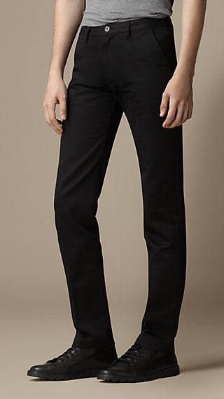 Slim Fit Technical Cotton Chinos