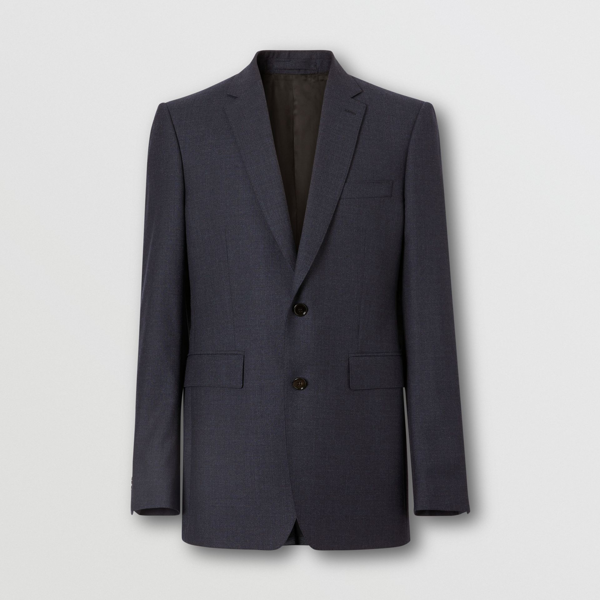Classic Fit Wool Three-piece Suit in Navy - Men | Burberry - gallery image 3