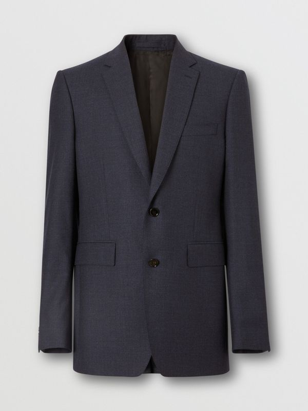 Classic Fit Wool Three-piece Suit in Navy - Men | Burberry - cell image 3