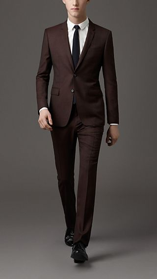 Modern Fit Birdseye Virgin Wool Suit