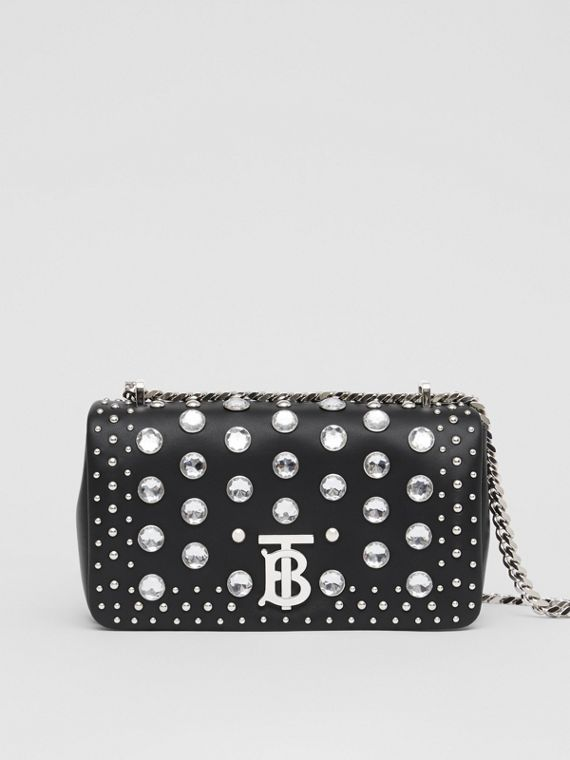 Small Embellished Lambskin Lola Bag in Black