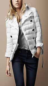 Short Puffer Trench Coat