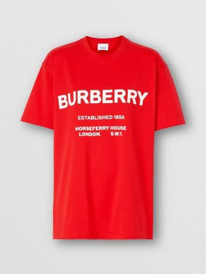 Horseferry 印花棉质 T 恤衫