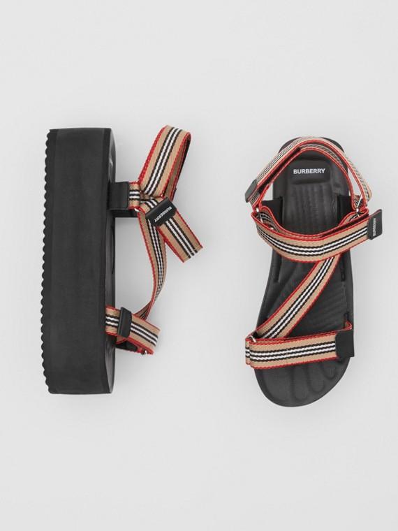 Icon Stripe Sandals in Archive Beige