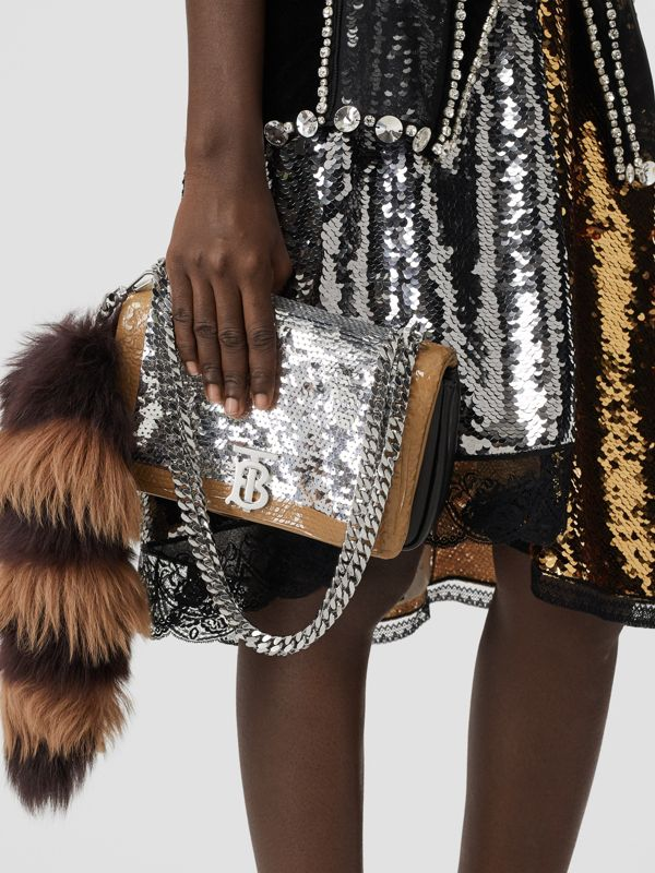 Small Tape Detail Sequinned Lambskin Lola Bag in Black - Women | Burberry Canada - cell image 2