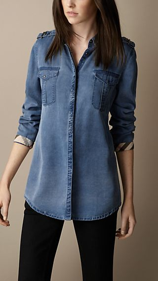 Relaxed Fit Denim Shirt