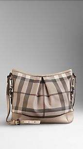 Medium Smoked Check Crossbody Bag