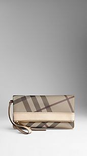 Pochette repliable en smoked check