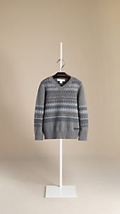 Fair Isle Cashmere Cotton Sweater