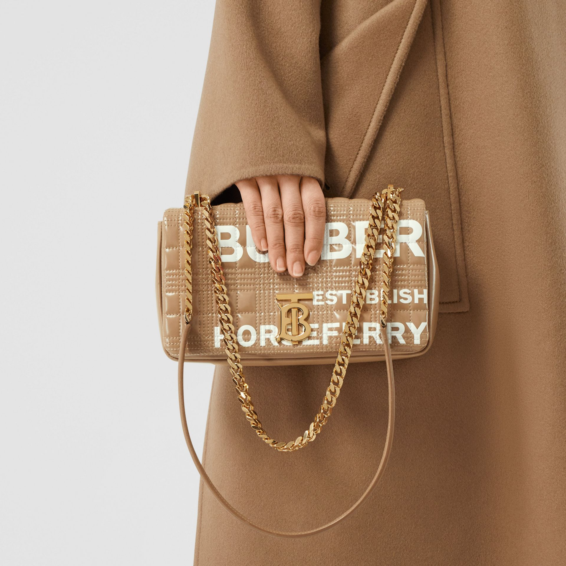 Small Horseferry Print Quilted Lola Bag - Women | Burberry United Kingdom - gallery image 2
