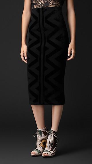 Knitted Blanket Pencil Skirt