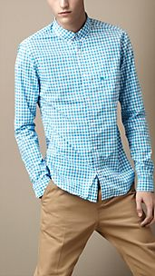 Button-Down Gingham Shirt
