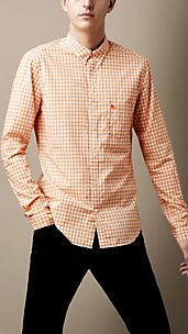 Cotton Linen Gingham Shirt