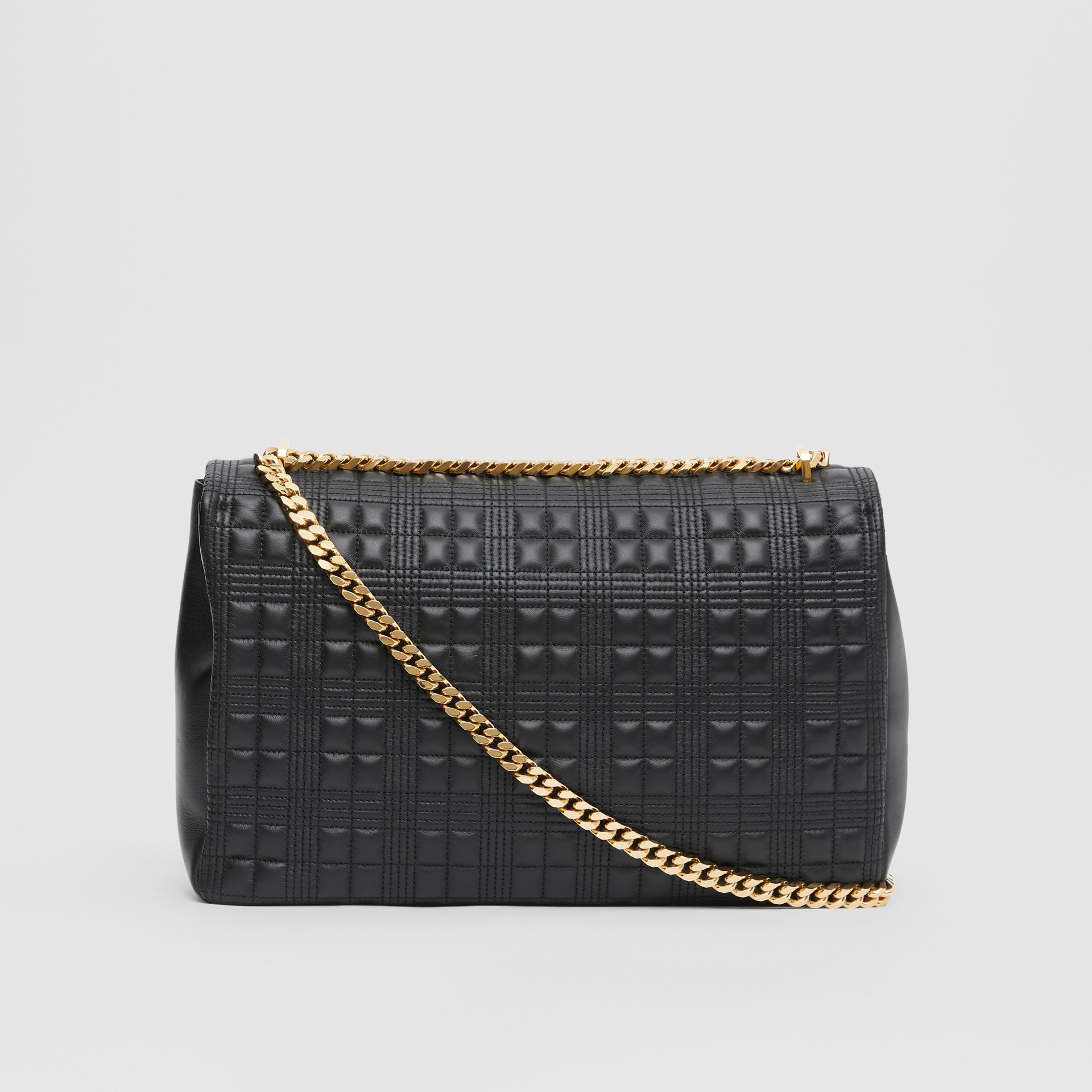 Extra Large Quilted Lambskin Lola Bag in Black - Women | Burberry - gallery image 7
