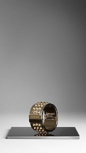 Metallic Lizard Skin Studded Cuff
