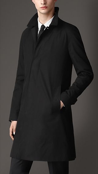 Cashmere Trim Car Coat with Warmer