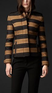 Ribbed Quilt Fitted Jacket