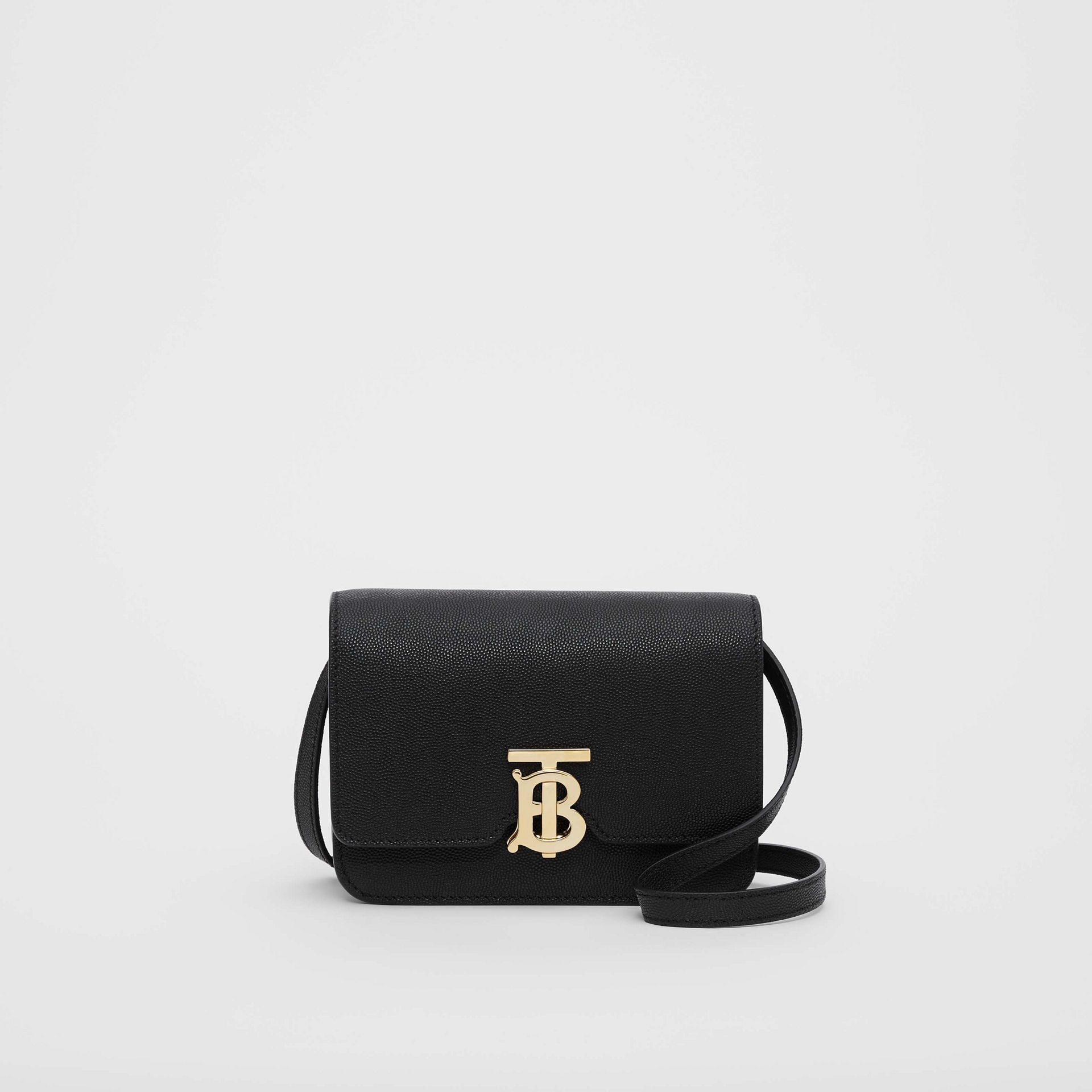 Mini Grainy Leather TB Bag in Black - Women | Burberry - gallery image 0