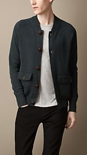 Knitted Bomber Cardigan