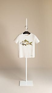 Fish Graphic Cotton T-Shirt