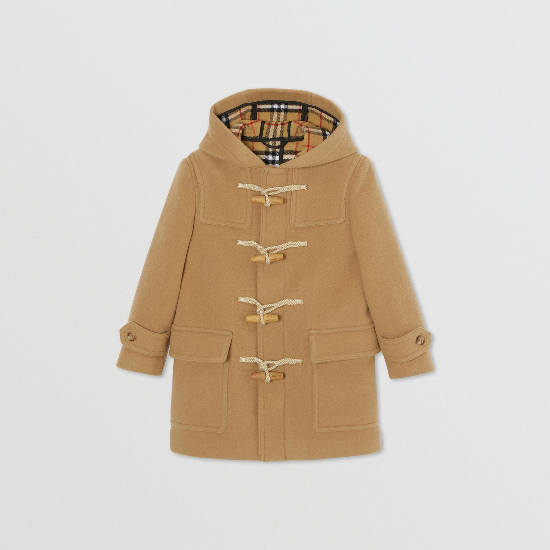 Double-faced Wool Duffle Coat in Antique Yellow | Burberry United Kingdom - gallery image 0