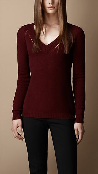 Open Stitch Cashmere Sweater