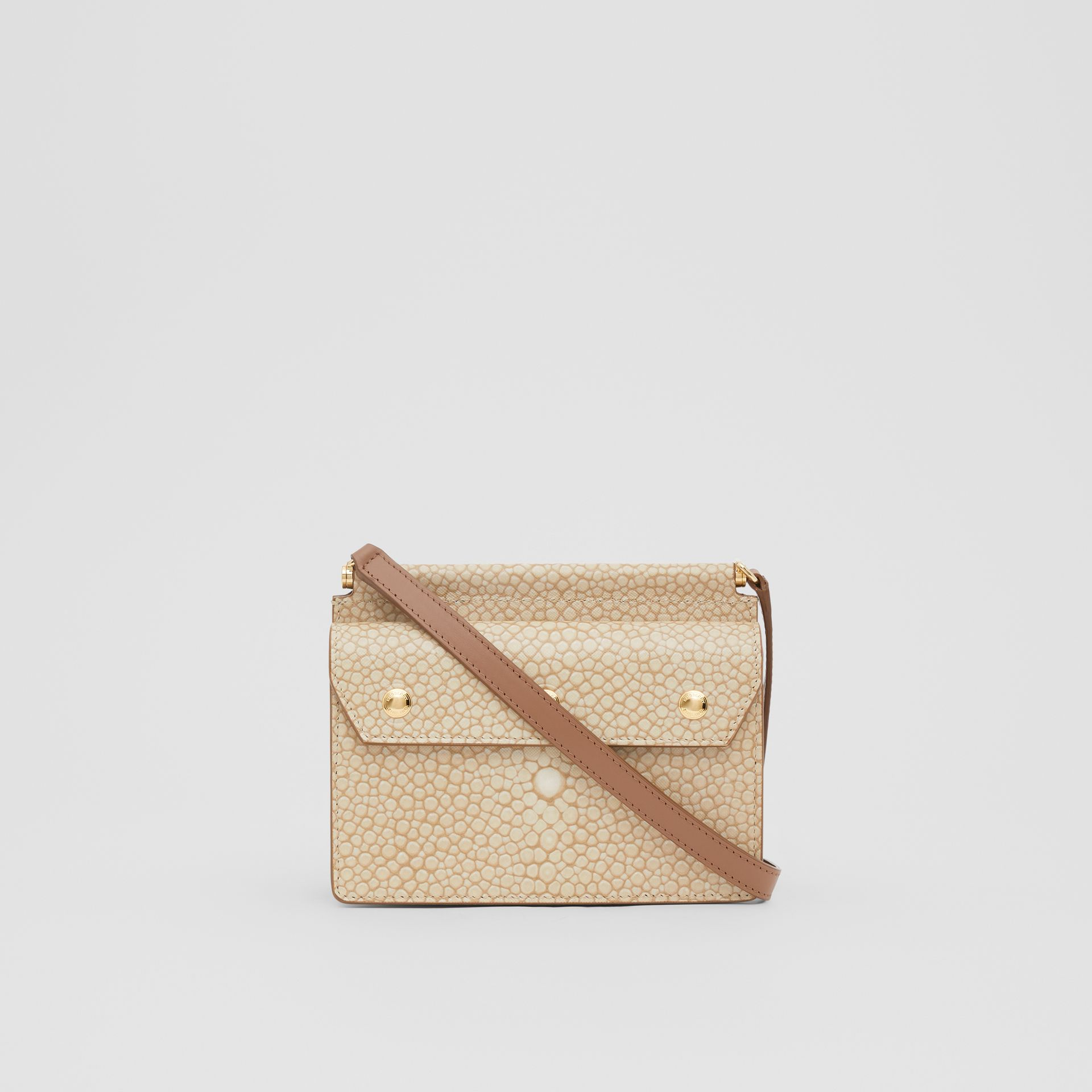 Mini Fish-scale Print Title Bag with Pocket Detail in Light Sand - Women | Burberry - gallery image 7