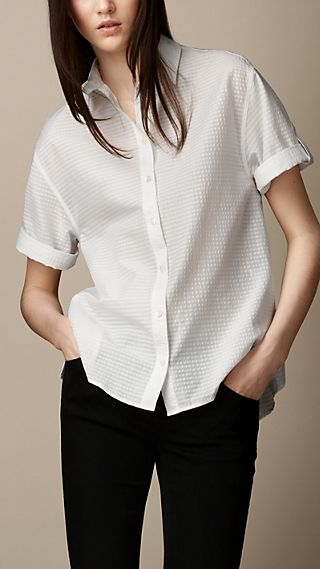 Barre Stripe Box-Fit Shirt
