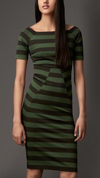 Square Neck Striped Dress
