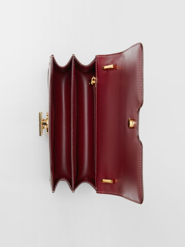Small Two-tone Canvas and Leather TB Bag in Natural/dark Carmine - Women | Burberry Australia - cell image 3