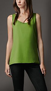 Stretch-Silk Crêpe Vest