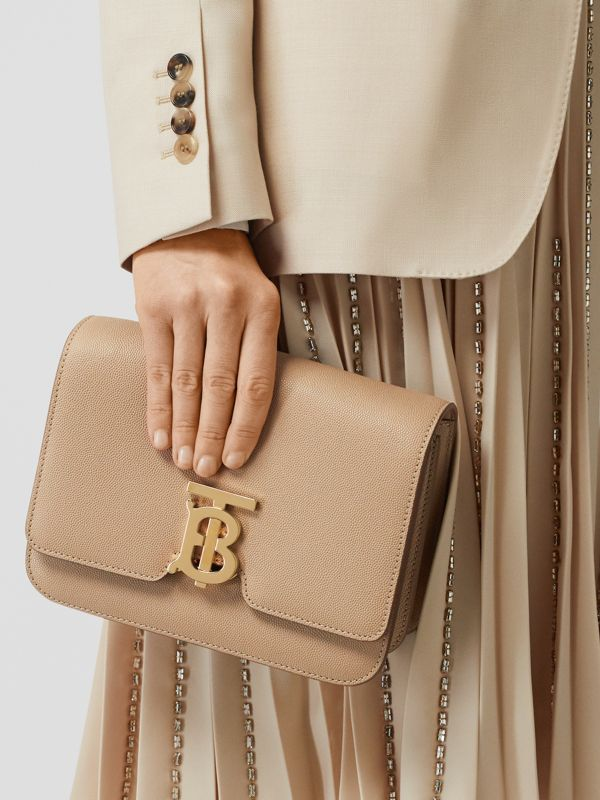 Small Grainy Leather TB Bag in Archive Beige | Burberry United States - cell image 2